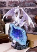 Dragon Crystal Geode Guardian Figurine Sculpture Statue Ornament Led Light